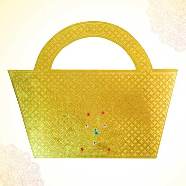 Golden Designer Envelope for shagun cum invitation card (Pack of 5) PSO