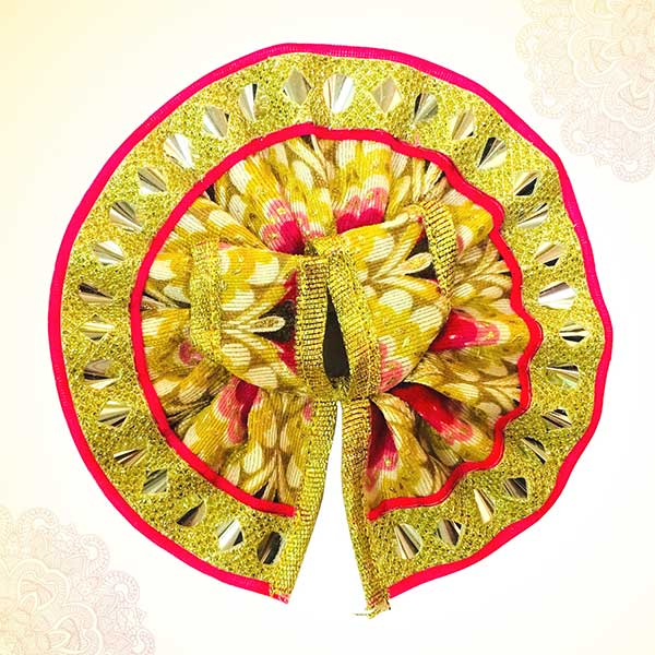 Thakur Ji/Ladoo Gopal/Laddu gopal/Thakurji/krishna/bal gopal Printed Lace Work Dress (PINK) PSO