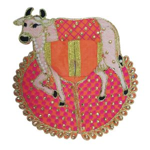 Thakur Ji/Ladoo Gopal/Laddu Gopal/Thakurji/Krishna/bal Gopal Cow Style Dress PSO (Blue, Big)