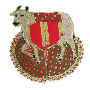 Thakur Ji / Ladoo Gopal / Laddu gopal / Thakurji / krishna/ bal gopal cow style dress PSO (Red, big)